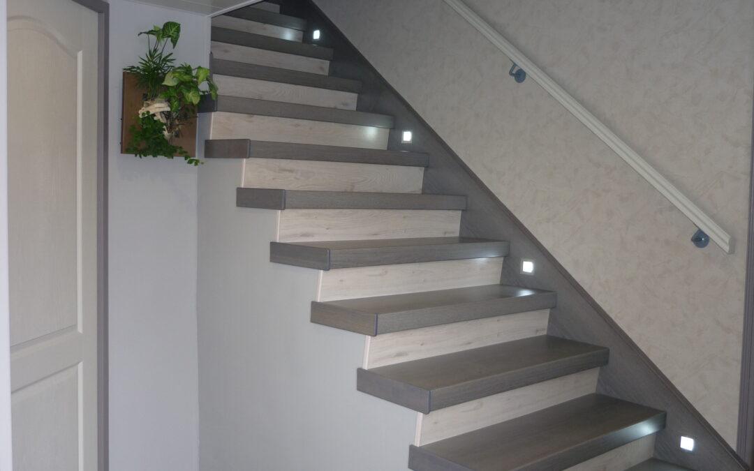 Eclairage d'une montée d'escalier avec commande led sans fil