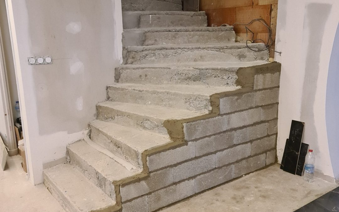 Modifier un escalier béton mal fait et dangereux en Haute-Savoie (74000)